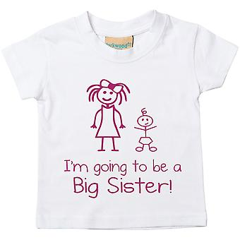 I'm Going To Be a Big Sister White Tshirt