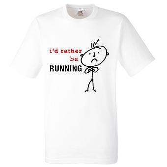 Men's I'd Rather Be Running White Tshirt