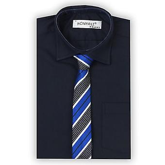 Boys Formal Navy Shirt with Tie Set