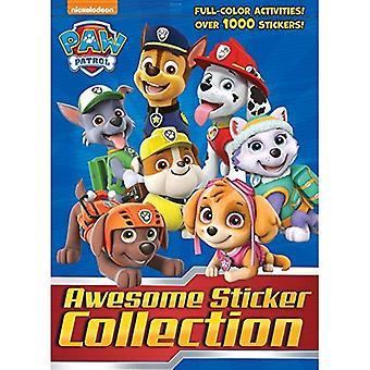 Paw Patrol Awesome Sticker collectie (Paw Patrol) (4 kleuren Plus 1000 Stickers)