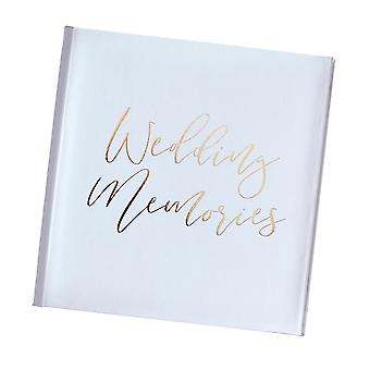 Gold and White Wedding Photo Album