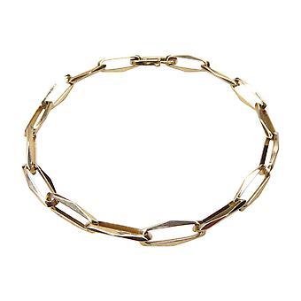 14 k Yellow Gold closed forever bracelet