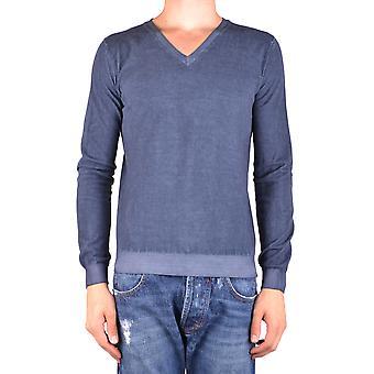 Dondup Ezbc051089 Men's Blue Cotton Sweater