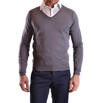 Paolo Pecora Ezbc059002 Men's Grey Cotton Sweater
