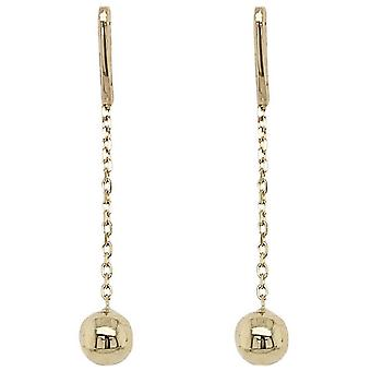 Mark Milton Ball and Chain Drop Earrings - Yellow Gold