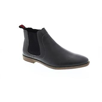 Ben Sherman Gaston Chelsea Mens Gray Leather Slip On Boots Chaussures