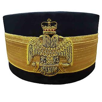 33. Gravree Scottish Rite Crown Wings DOWN Black Cap Bullion Hand Stickerei