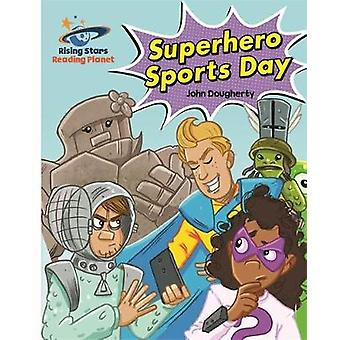 Reading Planet - Superhero Sports Day - White - Galaxy by John Dougher