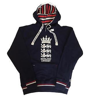 ECB England Cricket Mens Over Head Hoodie | Navy