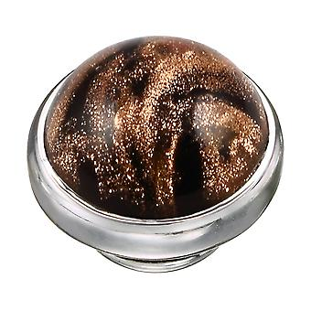 KAMELEON marbré Onyx verre de Murano en argent sterling JewelPop KJP539