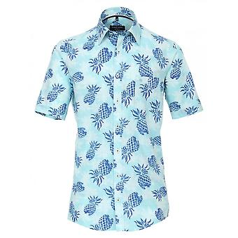 CASA MODA Casa Moda Pineapple Print Short Sleeve Shirt