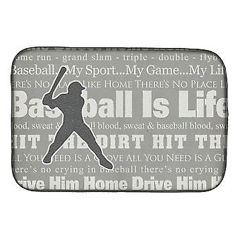Carolines Treasures  SB3078DDM Baseball is Life Dish Drying Mat