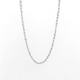 Eternity 9ct wit goud 18 ' ' Diamond Cut Prince of Wales Chain