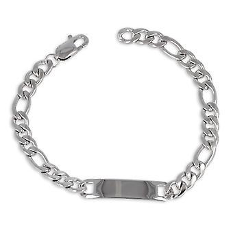 Bracelet Plaque 8x21 Maille Alternée 3+1 Acier Inoxydable 316l 21cm