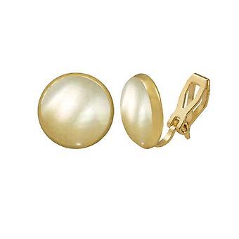 Éternelle Collection symphonie or mère de perle Stud or Clip boucles d'oreilles