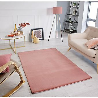 Comfy Pink  Rectangle Rugs Plain/Nearly Plain Rugs