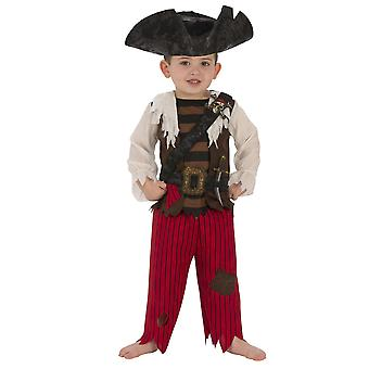 Piraat Matey Captain Hook Caribbean Buccaneer boek week kind jongens kostuum