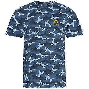 16. 5. die Königinnen Royal Lancers - lizenzierte britische Armee bestickt Camouflage Print T-Shirt