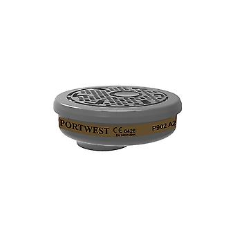Portwest a2 gas filter bayonet connection p902 box of 6
