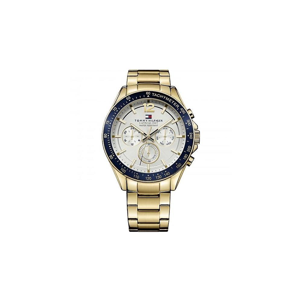 Tommy Hilfiger Mens 'Luke' Gold Plated Bracelet Watch
