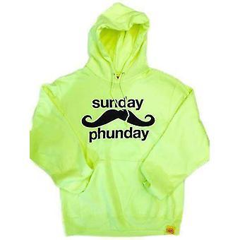 Team phun sunday phunday hooded sweat neon yellow