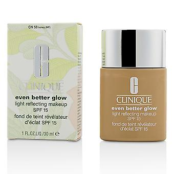Clinique ännu bättre glöd ljus reflekterande Makeup SPF 15 - # CN 58 honung 30ml / 1oz