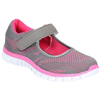 Caravelle Womens Mexico Sporty Comfort Casual Shoe Grey/Fuschia