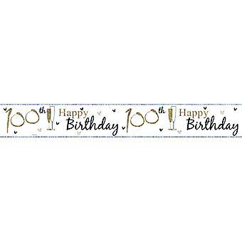 Simon Elvin Happy 100th Birthday Foil Banner