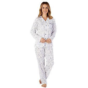 Slenderella PJ4103 Women's Jersey Floral Cotton Pyjama Set