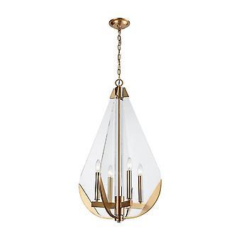 Vapor cone 4-light chandelier
