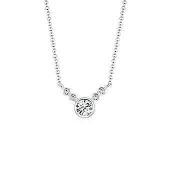 Elli Silver Women's Necklace 925 with Swarovski White Crystal 0101441917_45