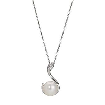 Adriana Collane Silver Woman 9-carat Zirconia cubic Pearls grown d'fresh water AGI1