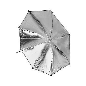 BRESSER SM-03 reflekterende paraply sort/sølv 101 cm