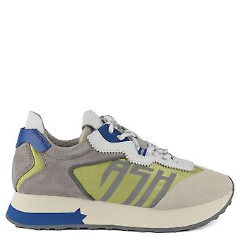 Ash skor Tiger grå och grön tränare