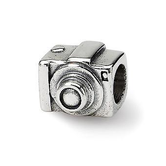 925 Sterling Silber poliert Finish Reflexionen SimStars Kamera Perle Charme Anhänger Halskette Schmuck Geschenke für Frauen