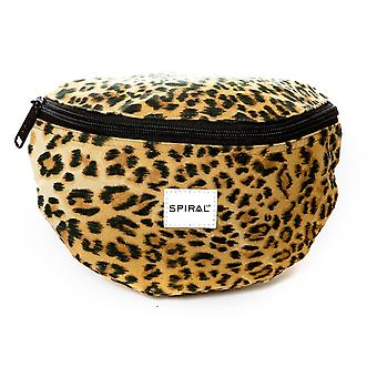 Spiral Leopard Bum Bag in Yellow