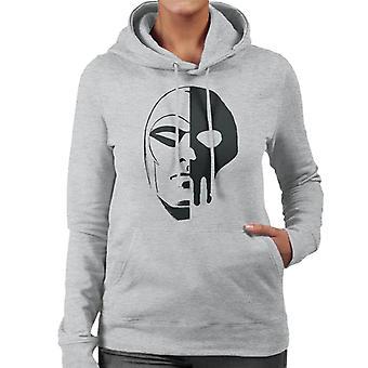 The Phantom Skull Split Women's Hooded Sweatshirt