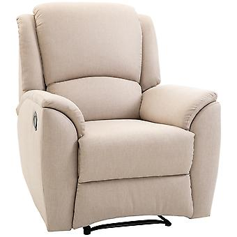 HOMCOM Recliner Chair Lounge Armchair Chair with Adjustable Angle and Footrest Beige