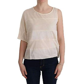 Beige Asymmetric Top Blouse -- TUI1766128