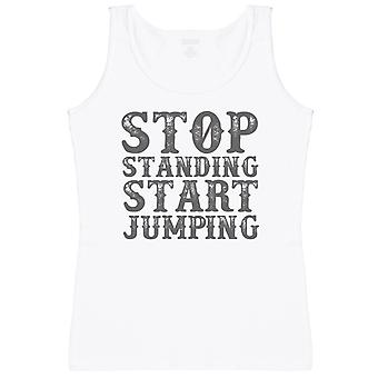 Stop Standing Start Jumping - Womens Tank Top