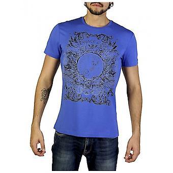 Versace Jeans - Bekleidung - T-Shirts - B3GRB71B36641_243 - Herren - blue,black - M