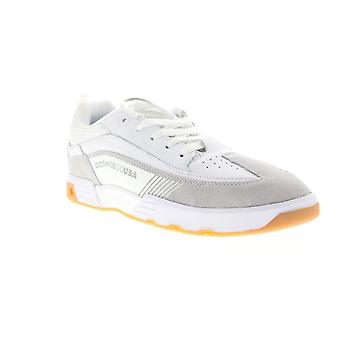 DC Legacy 98 Slim SE  Mens White Suede Athletic Skate Shoes