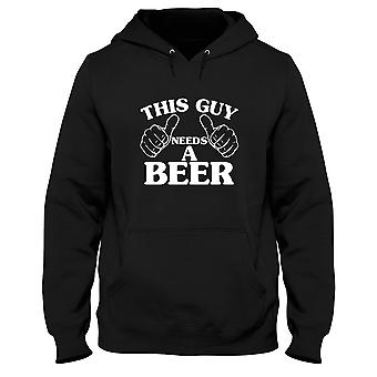 Black men's hoodie trk0348 guy beer