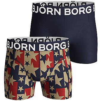 Bjorn Borg Mens Starstruck Sammy 2 Pack Mid Rise Boxers
