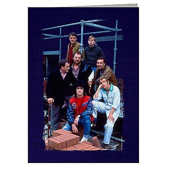 TV Times Cast Of Auf Wiedersehen Pet Greeting Card