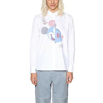 Desigual Disney Women's Lilou Mickey Mouse Applique Shirt