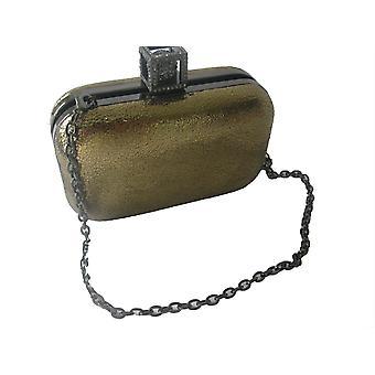 Bourne Women's Gold Alicia Clutch Bag