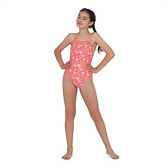 Speedo Kids Daz AO Suit Gl02 Swimsuit Costume Swimwear