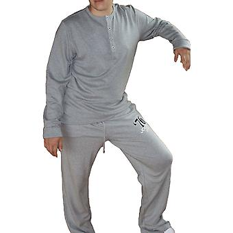 New Mens JOCKEY Designer 100% Cotton Long Pyjama 52006-6-Grey-Small 34-36