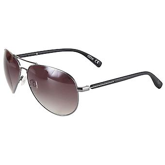 Suuna Teardrop Aviator Sunglasses - Gunmetal Grey